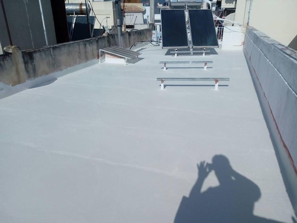 Τελικό αποτέλεσμα θερμομόνωσης ταράτσας με το σύστημα durosol light roof.