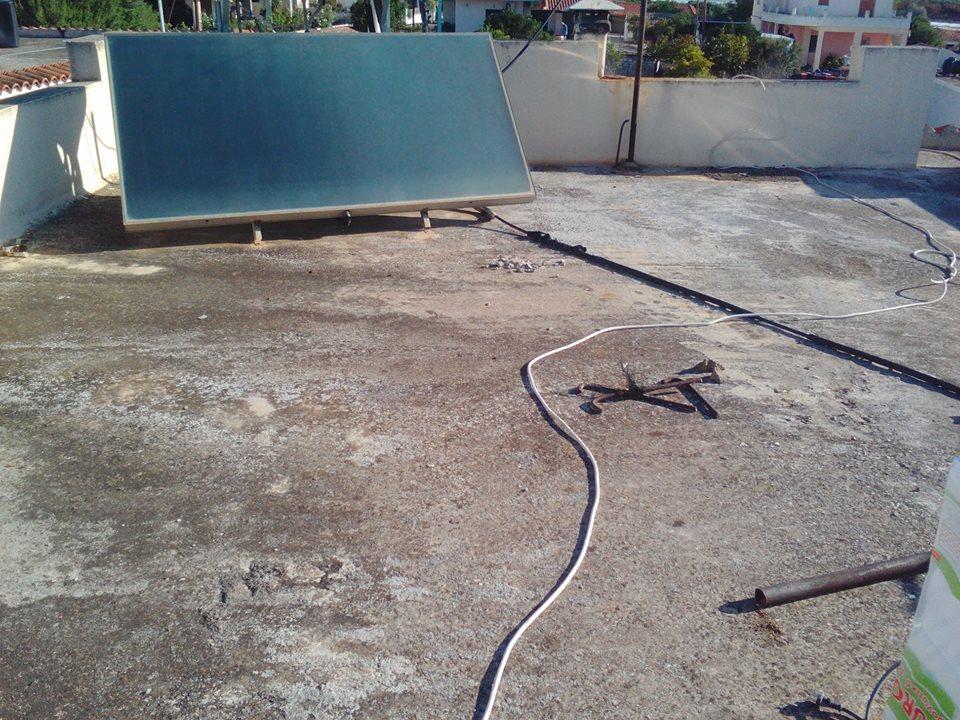 Ταράτσα πριν την τοποθέτηση μονωτικού υλικού και εφαρμογής του συστήματος Durosol Light Roof.