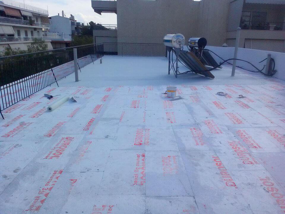 Αρχικό στάδιο μόνωσης ταράτσας με το σύστημα durosol light roof